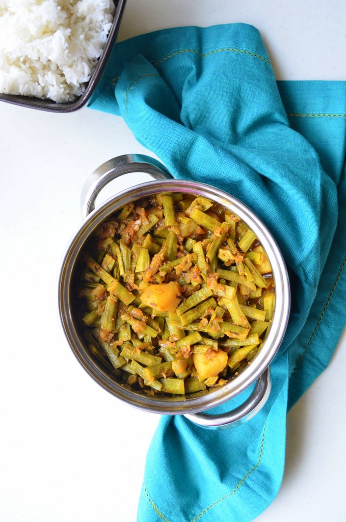 Gokarakaya Goru Chikkudu Guwar Beans Cluster Beans Curry