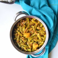 Gokarakaya/Goru Chikkudu (Guwar Beans/Cluster Beans) curry
