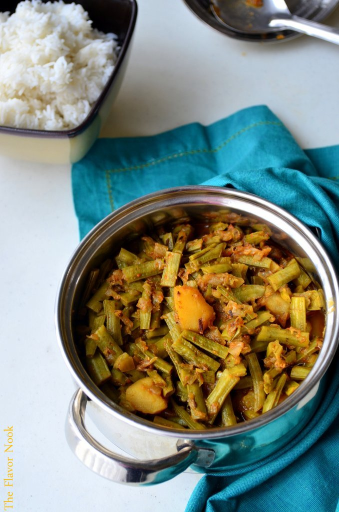 Goru Chikkudu-Ghokarkaya Curry