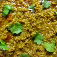 Keema Mutter/Minced Lamb with peas