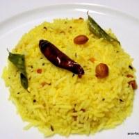 Nimmakaya Pulihora/Chitrannam/Lemon Rice