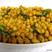 Senagalu Talimpu/Chickpeas Fry