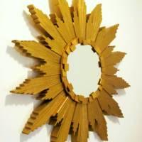 Sunburst Mirror (with Wood Shims) - DIY