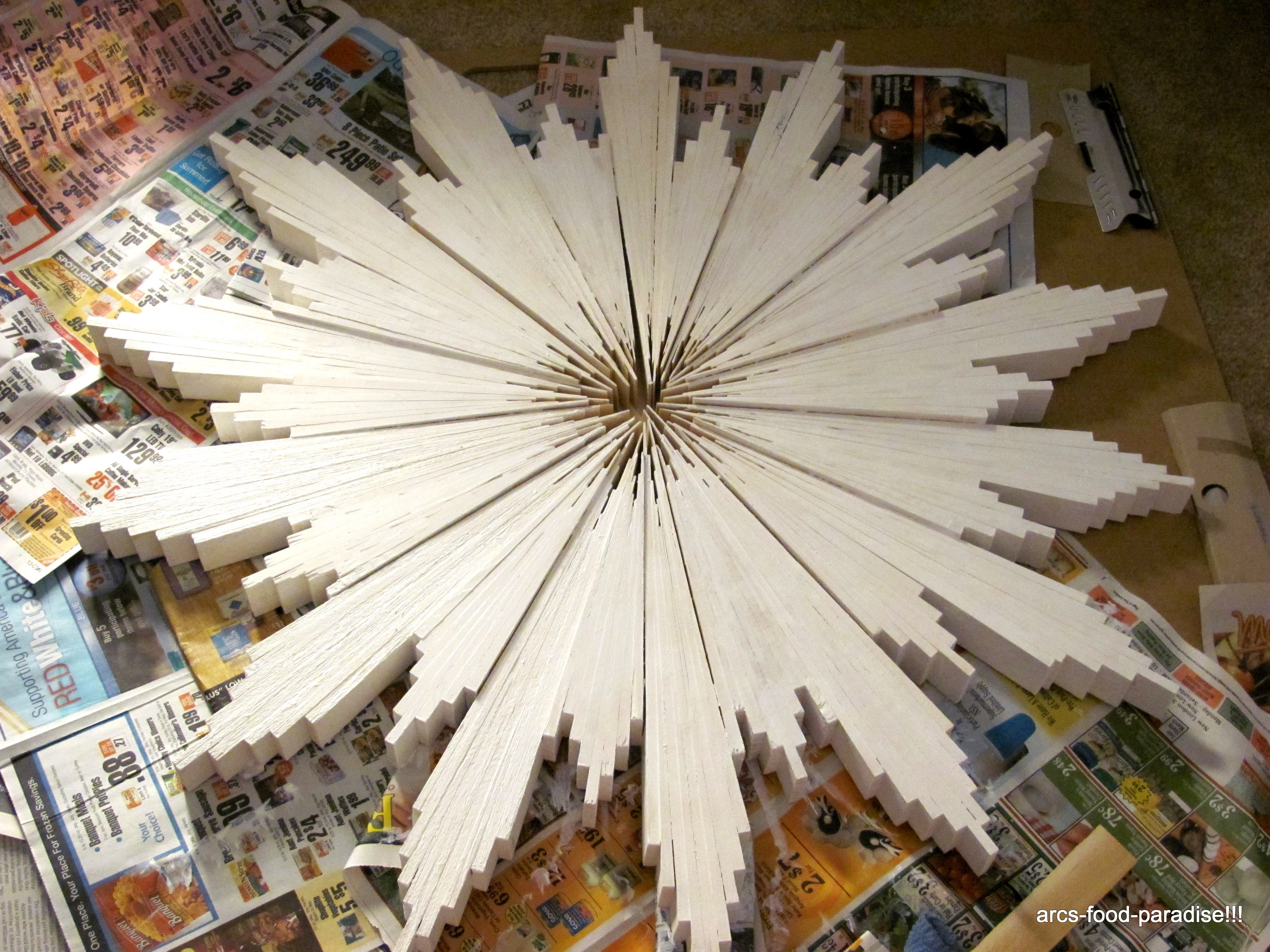 Sunburst Mirror (with Wood Shims) - DIY | The Flavor Nook!