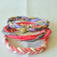 DIY Braided Polymer Clay Bracelets