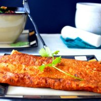 Besan Chilla (Gram Flour Crepes) with Coconut-Ginger Chutney