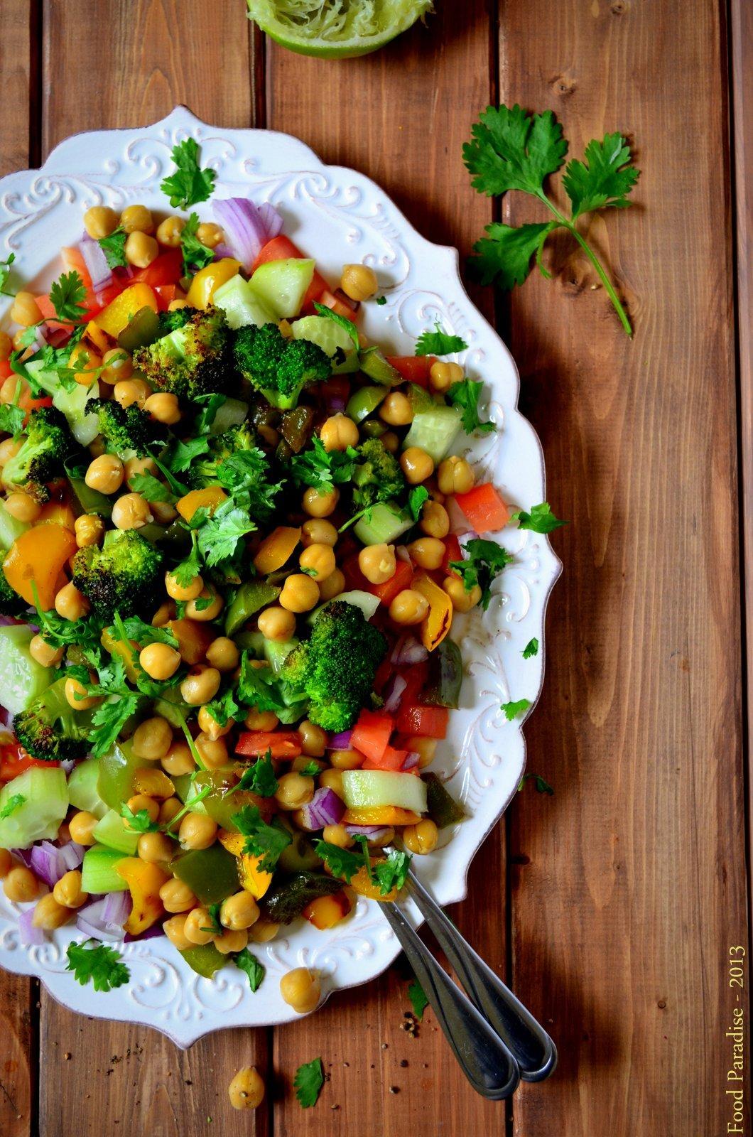 Chickpea Garden Salad