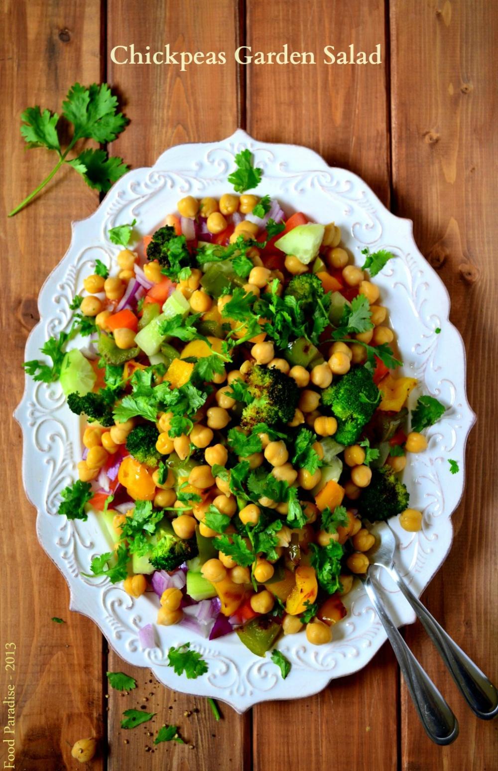 Chickpeas Garden Salad