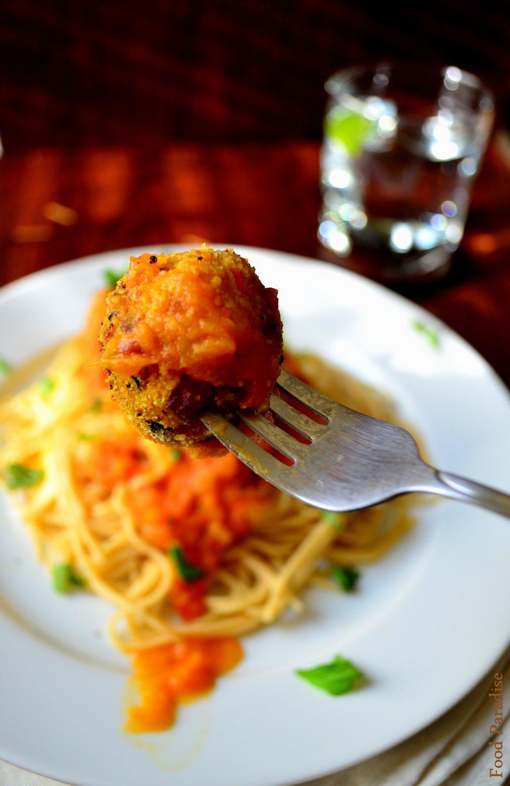 Spaghetti Veggie Balls