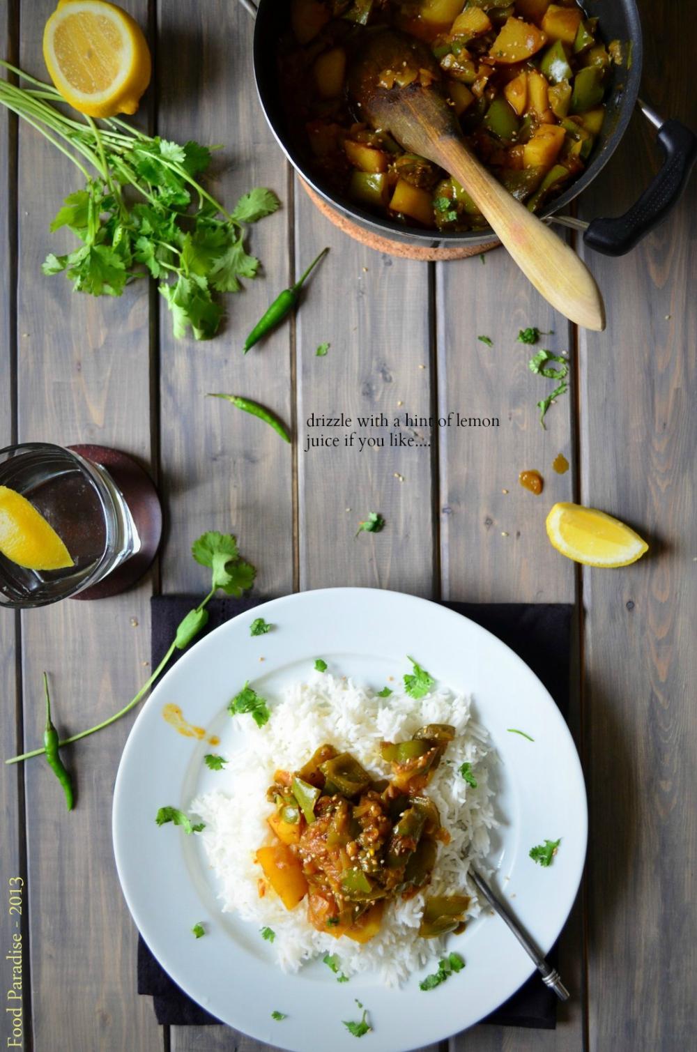 Capsicum and Potato Curry