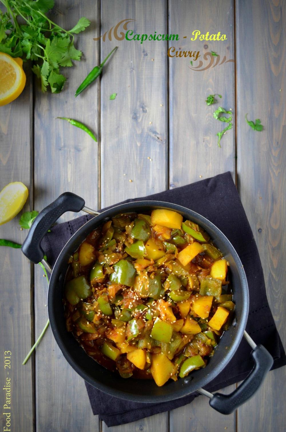 Capsicum & Potato Curry