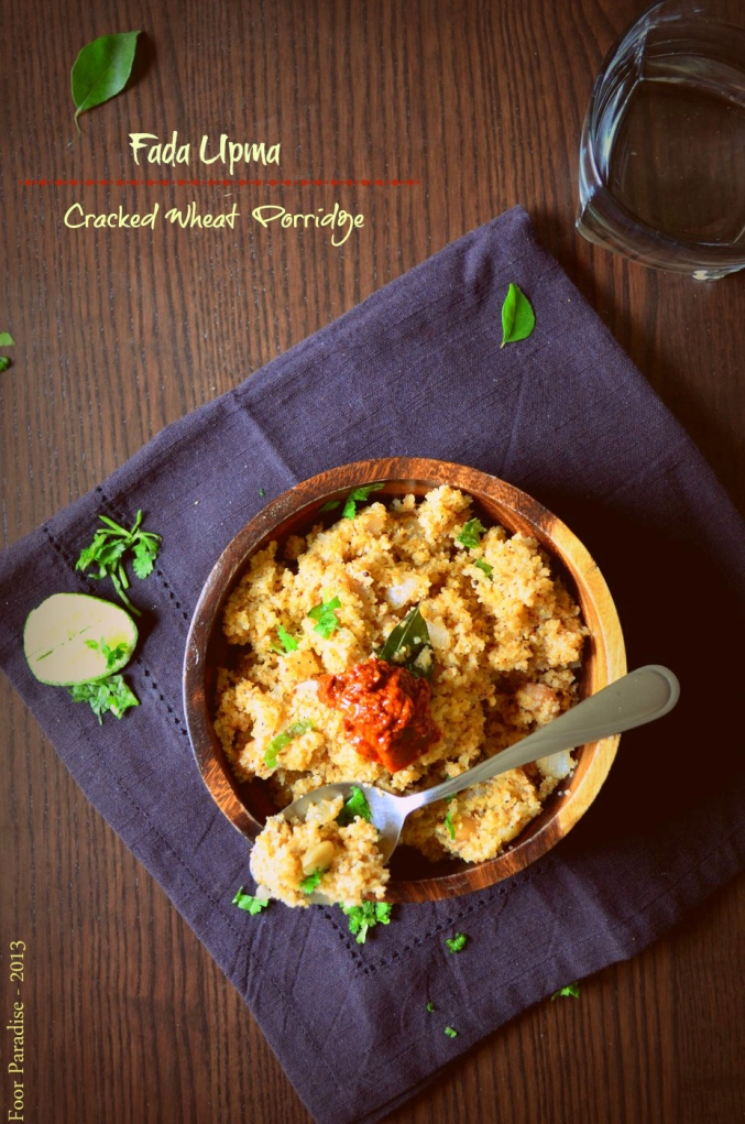 Fada Upma - Cracked Wheat Porridge