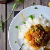 Capsicum and Potato Curry