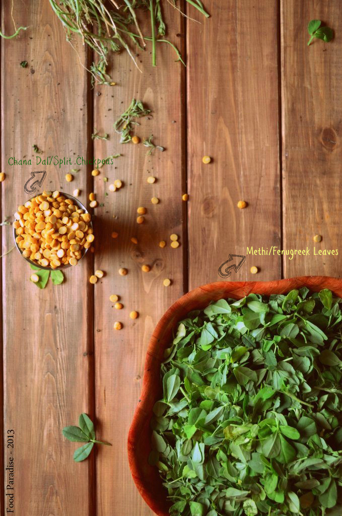 Chana Dal with Fresh Methi