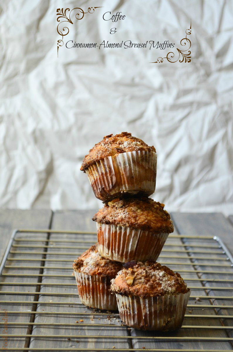 Coffee and Cinnamon-Almond Streusel Muffins