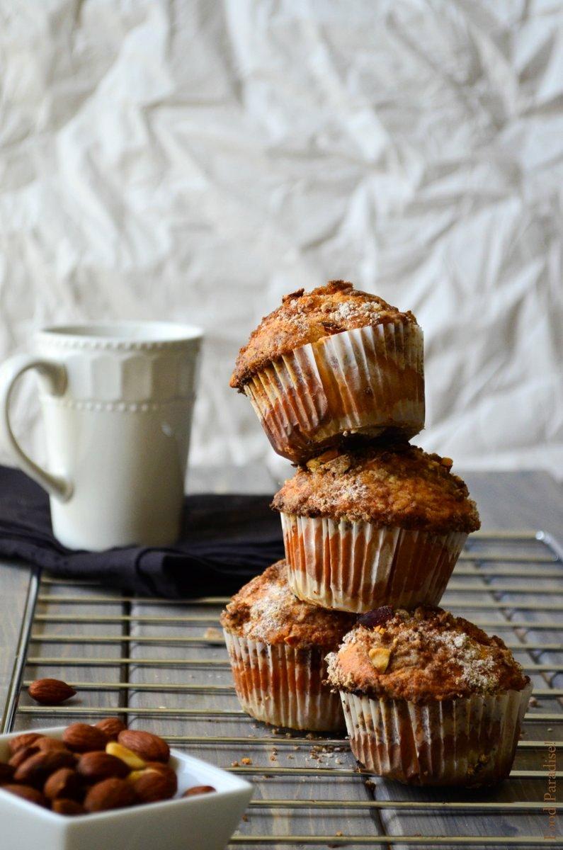 Coffee & Cinnamon-Almond Streusel Muffins