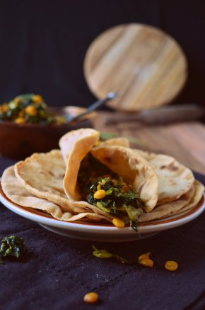 Methi Chana Sabji with Roti-001