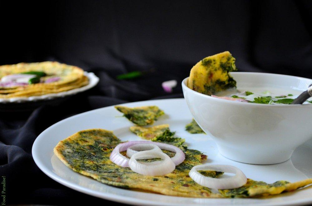 Broccoli Rabe - Rapini Stuffed Parathas
