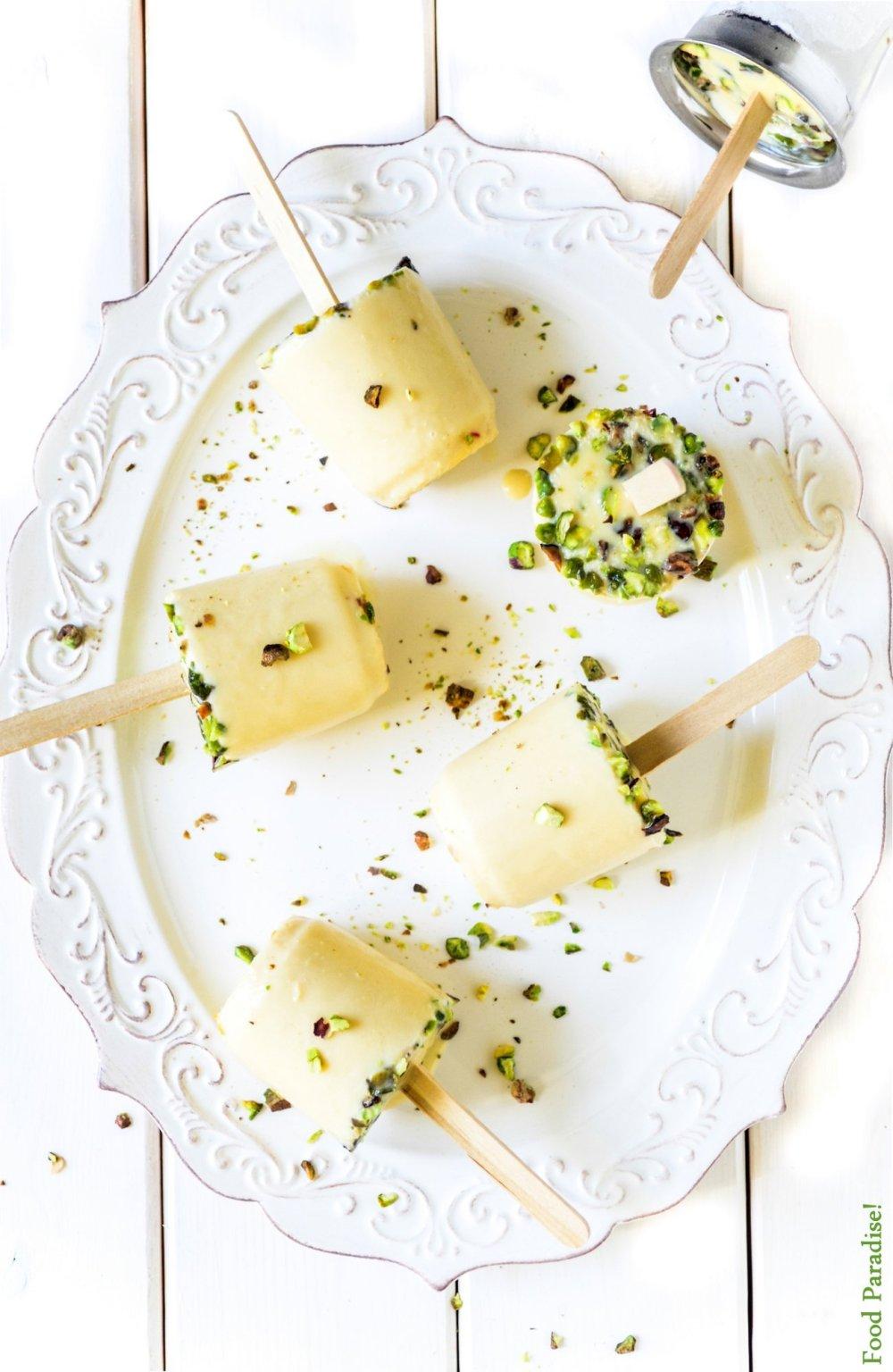 Kesar Pista Kulfi - Saffron Pistachios Ice-cream
