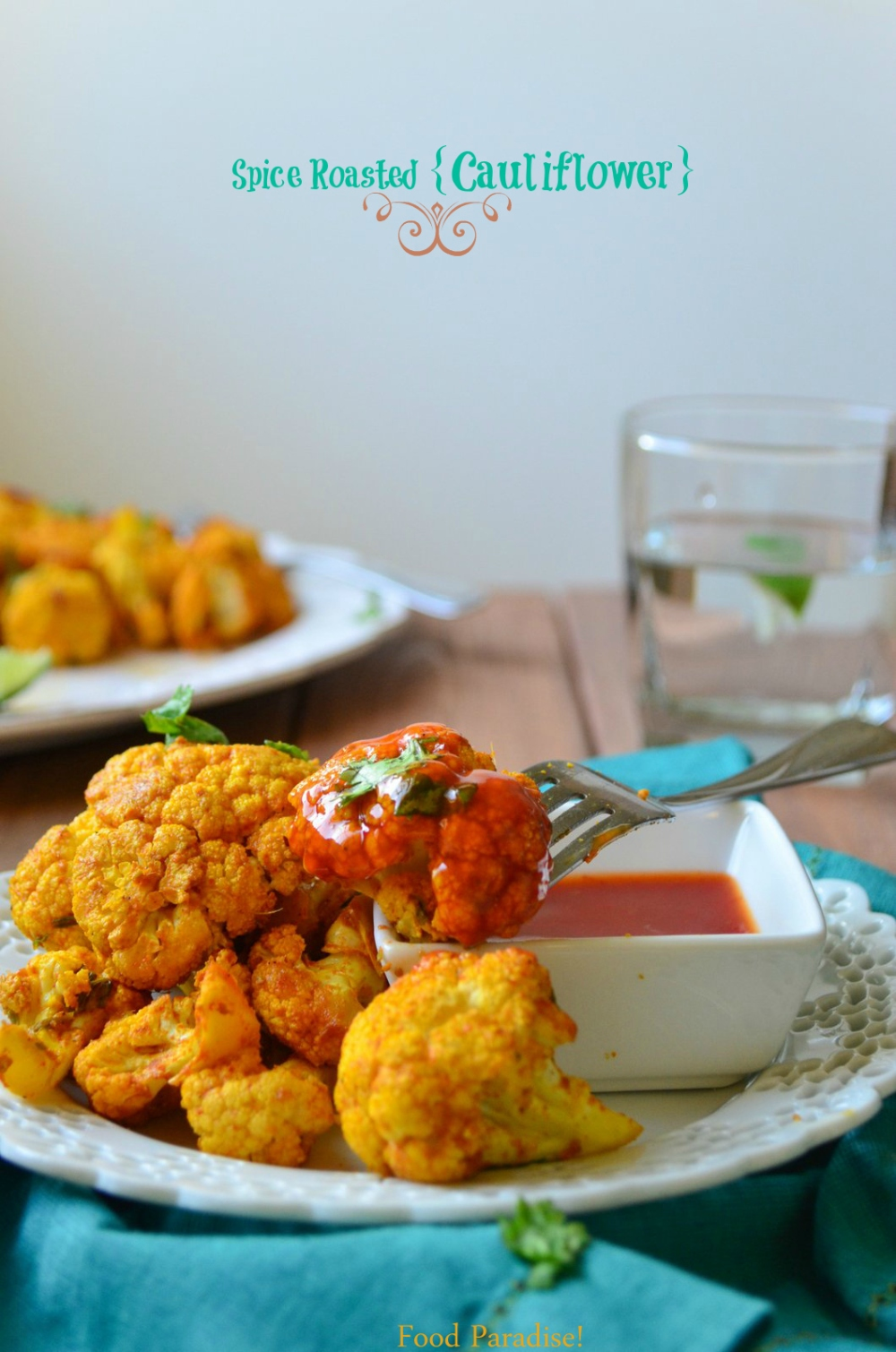 Roasted Cauliflower with Ketchup