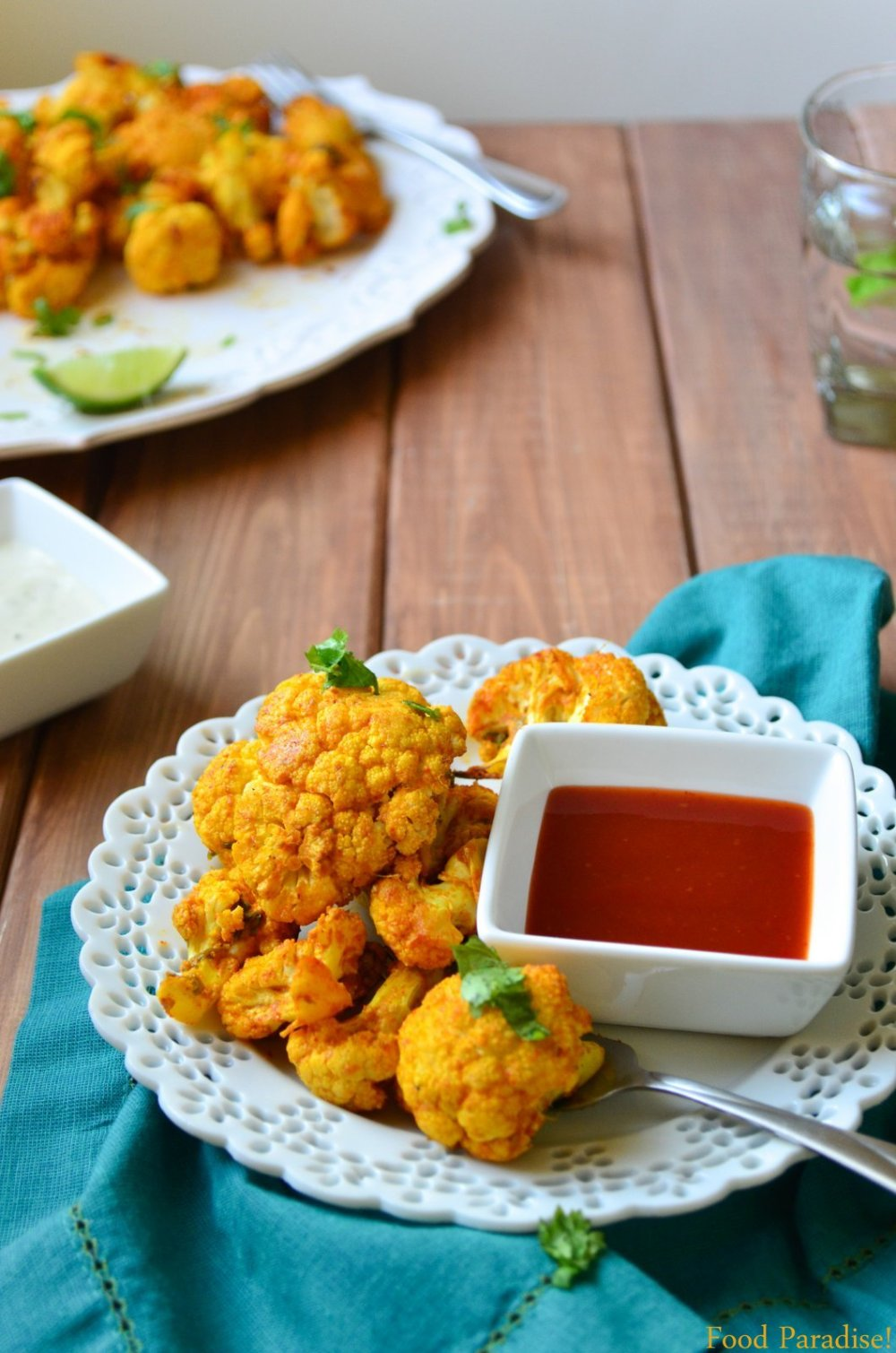 Spicy Roasted Cauliflower with Ketchup