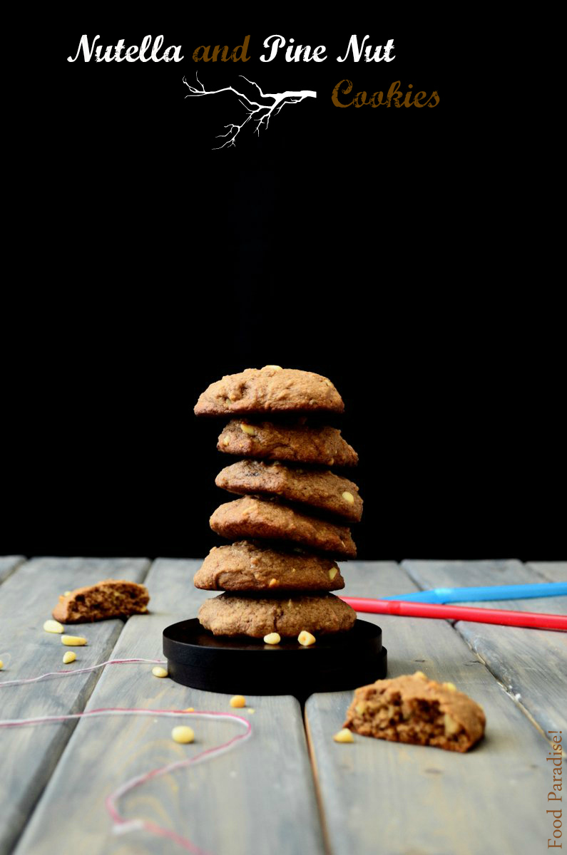 Nutella and Pine Nut cookies