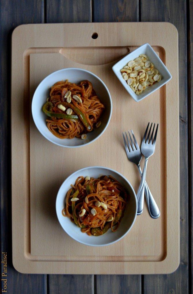 Sesame & Peanut Soba Noodles