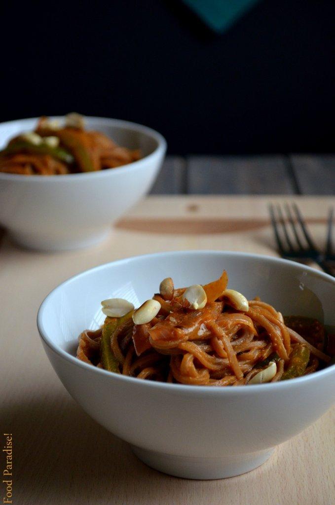 Sesame Peanut Soba Noodles