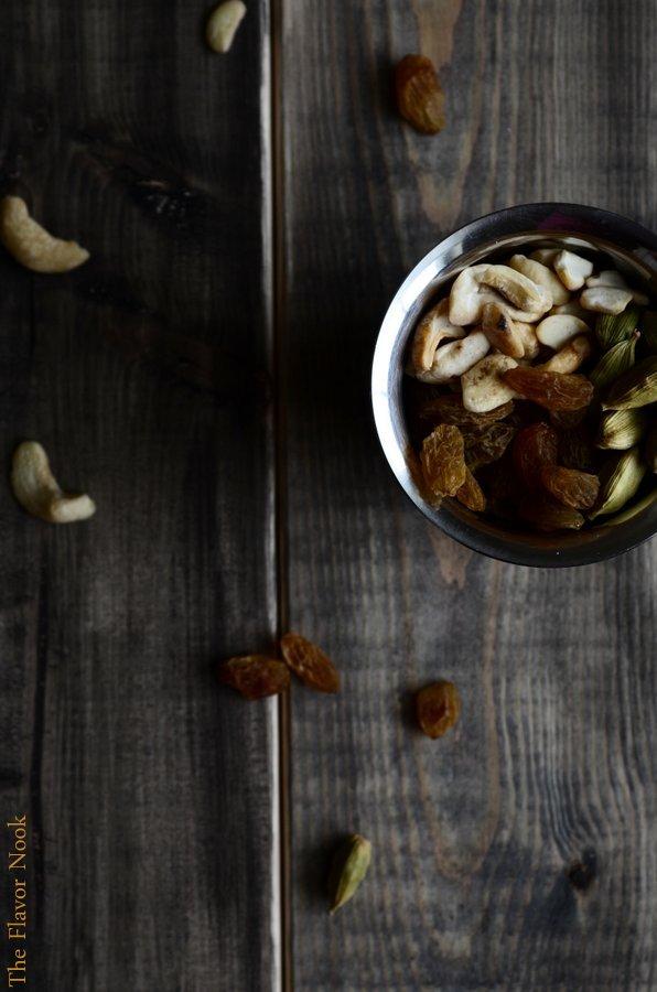 Cashews Raisins Cardamom