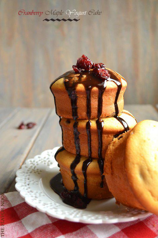 Cranberry Maple Yogurt Chocolate Glaze