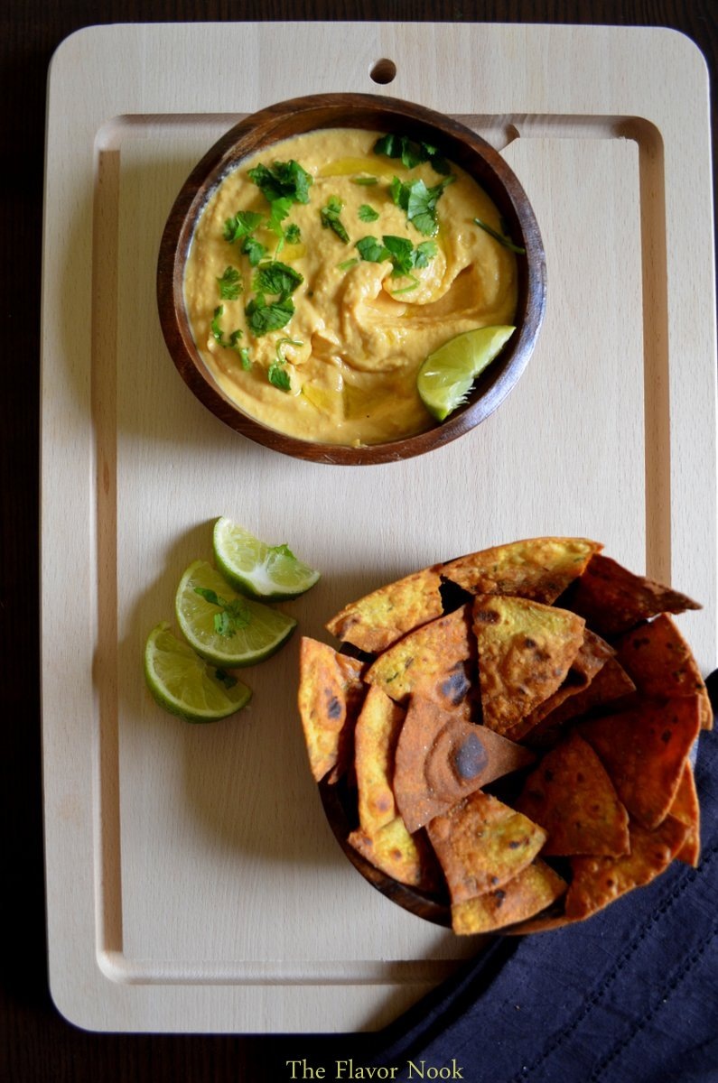 Paratha Chips - Sriracha Hummus