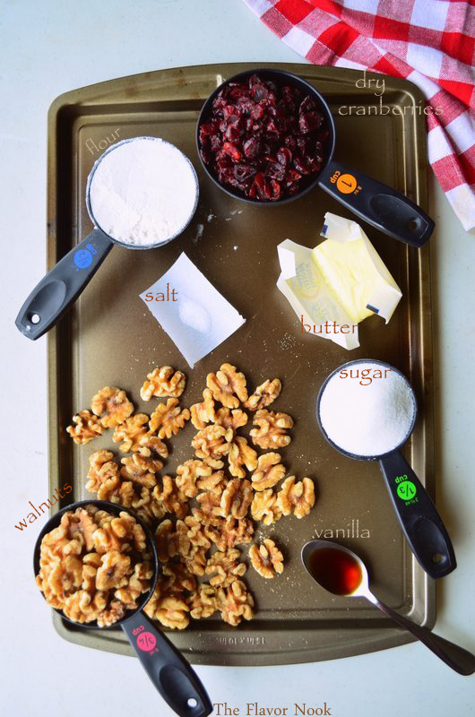 Walnut Cranberry Bars - Ingredients