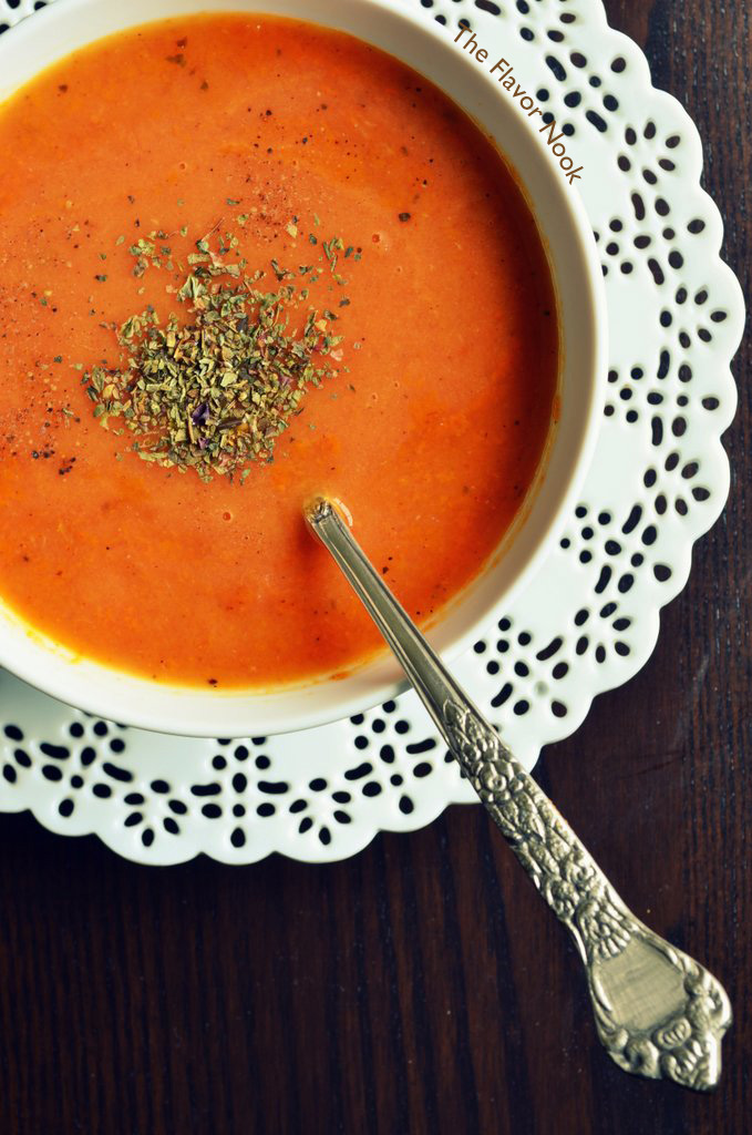 Roasted Tomato & Garlic Soup