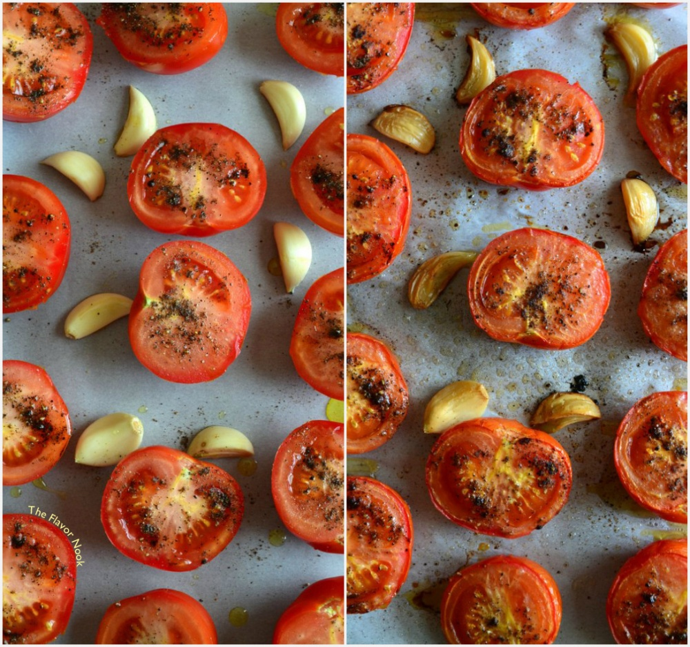 Tomatoes and Garlic Roasted