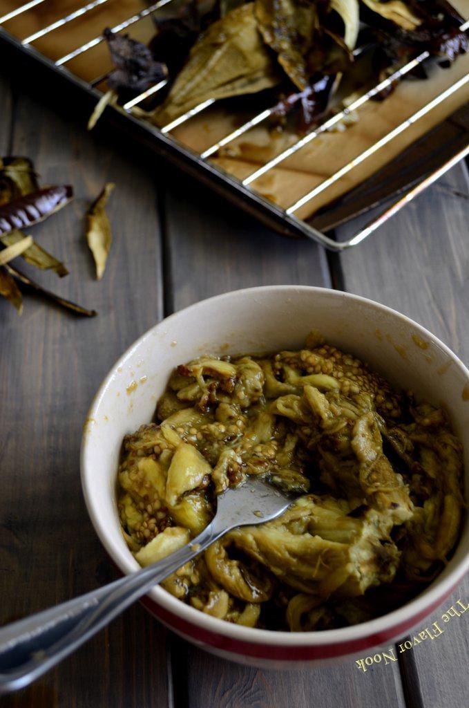 Mashed Roasted Eggplant