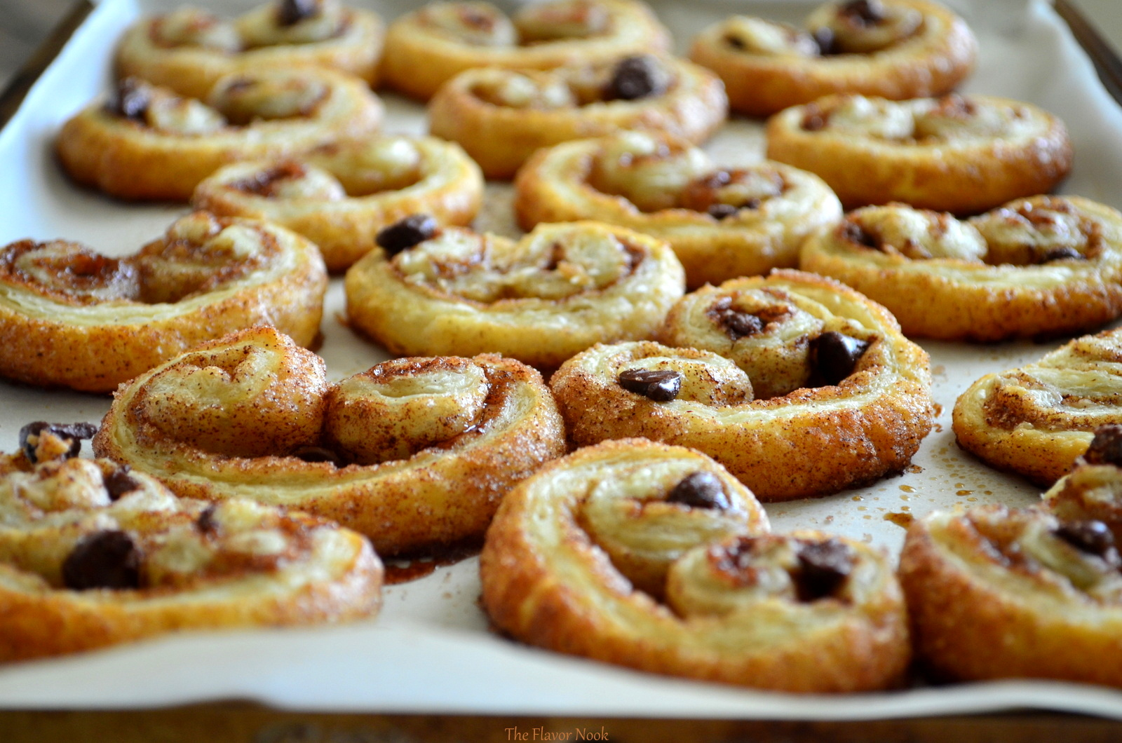 Cinnamon and Chocolate Chip Palmiers