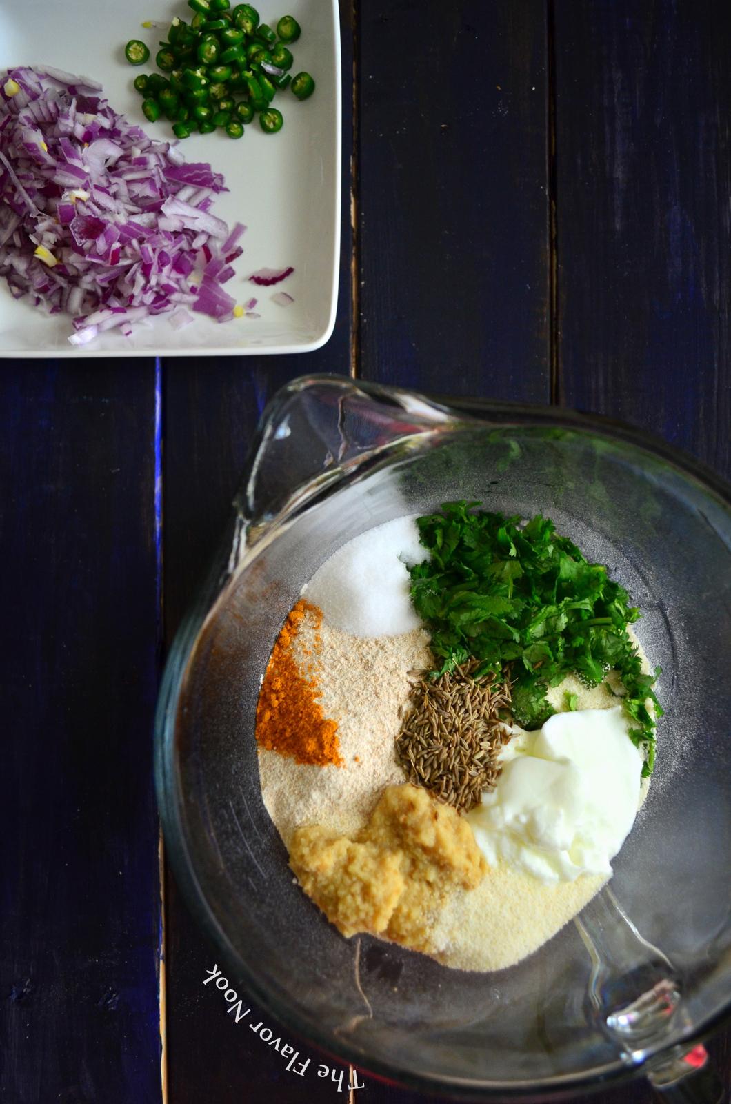 Wheat Rava Dosa Ingredients