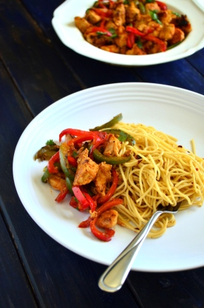 Chilli Chicken + Garlic Noodles-001
